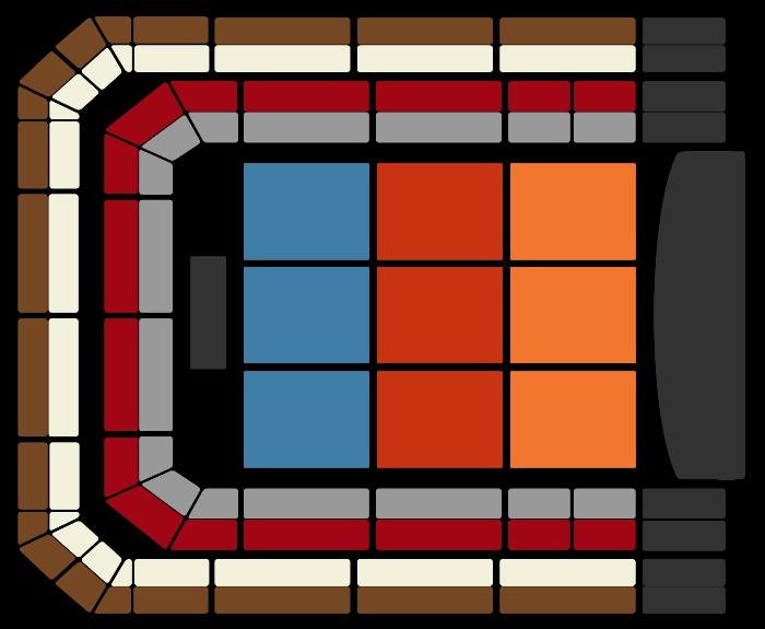 Seating Plan The Christmas Show (8pm)