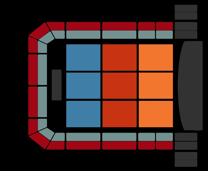 seating Plan The Christmas Show (11pm)