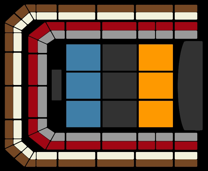 Seating Plan The Christmas Show (4pm)