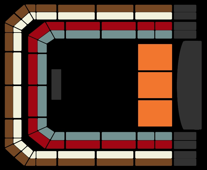 Seating Plan The Christmas Show (11am)