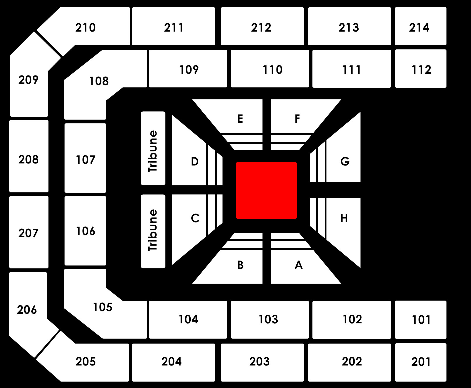 Seating Plan WWE Live WrestleMania Revenge