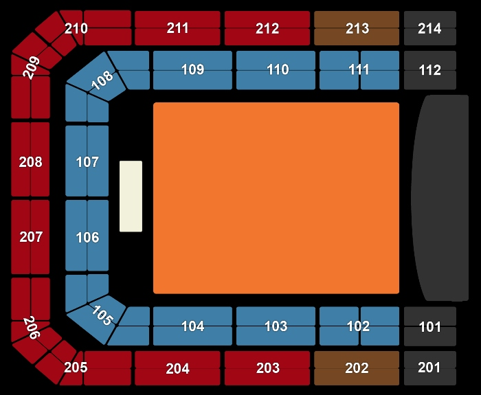 Seating Plan Imagine Dragons