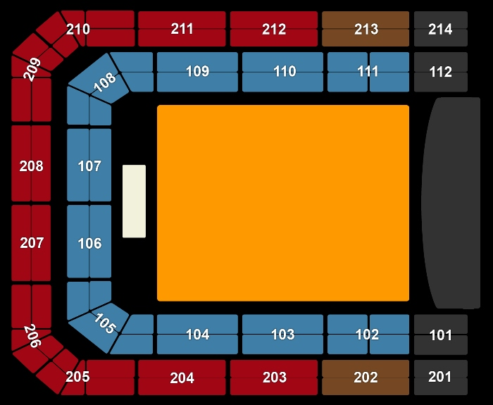 Seating Plan Ellie Goulding