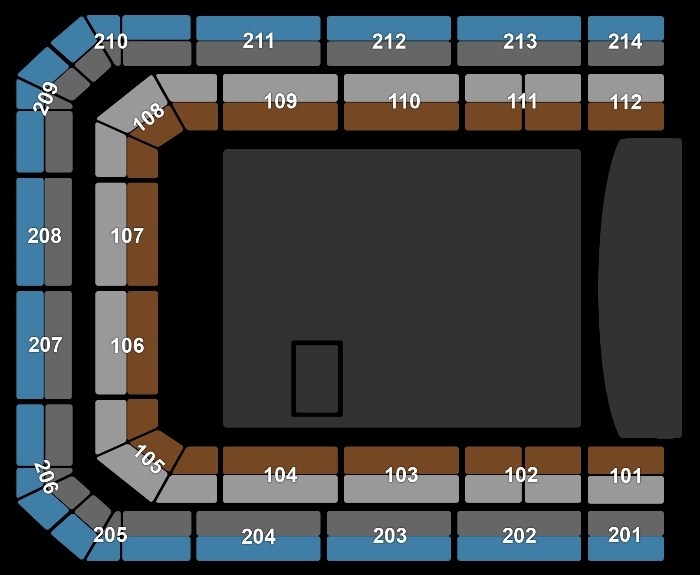 seating Plan Chris Brown