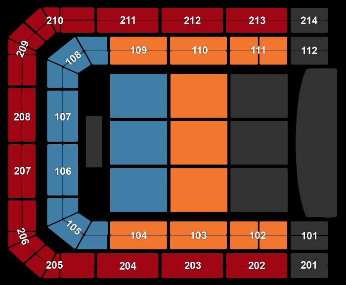 Seating Plan Mariah Carey