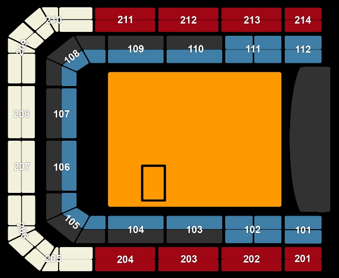 seating Plan Korfball Leaguefinale