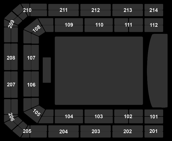 Seating Plan Studio 100 Winterfestival (13:30)