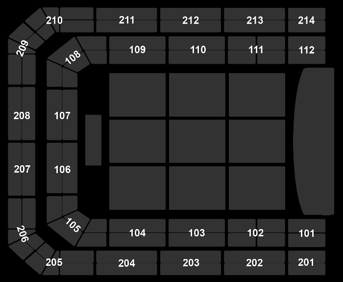 Seating Plan Studio 100 Winterfestival (10:00)