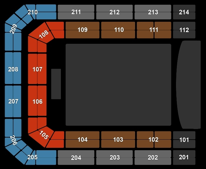 seating Plan A Touch Of Gold - 13:00