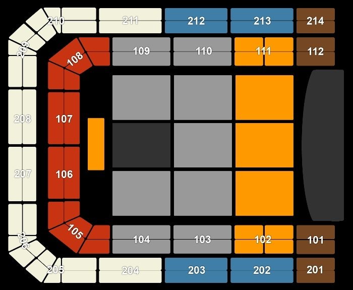 Seating Plan Shawn Mendes