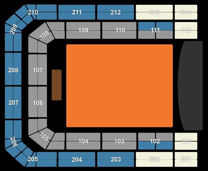 Seating Plan Avenged Sevenfold