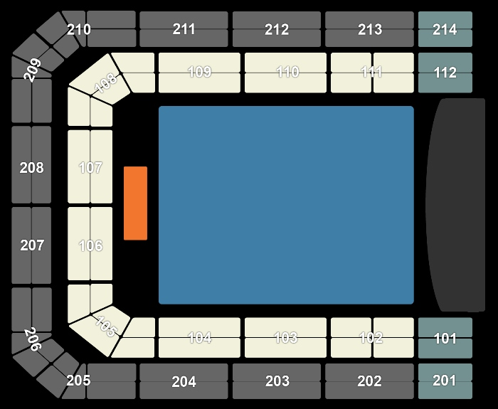 Seating Plan Bruno Mars