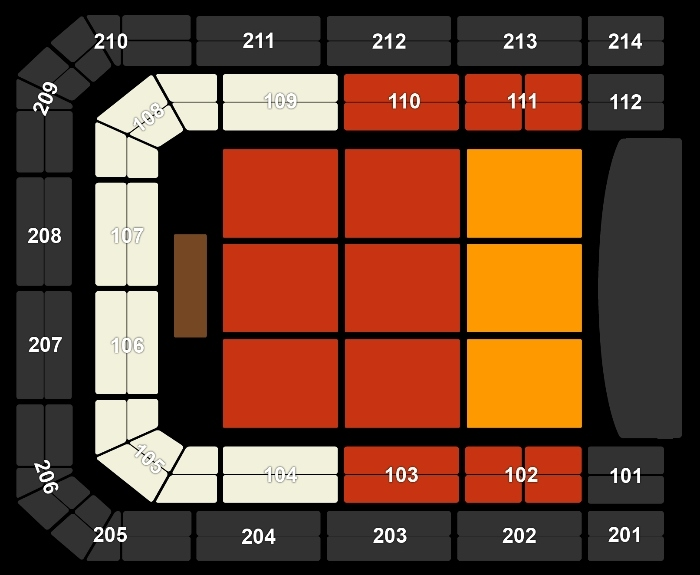 Seating Plan Gabriel Iglesias