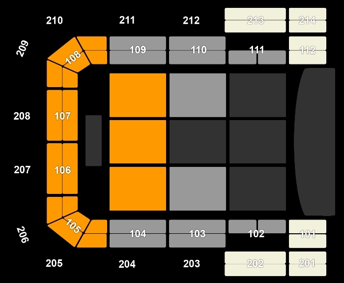 Seating Plan Neil Diamond