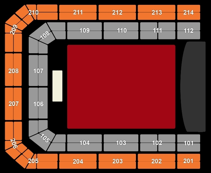 Seating Plan Symphonica in Rosso - Simply Red