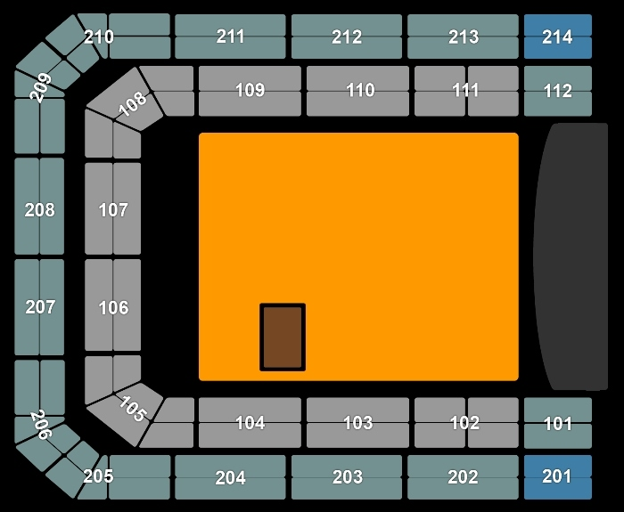 Seating Plan Lady Gaga