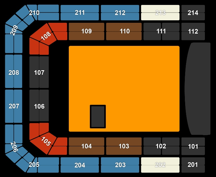 Seating Plan The Killers