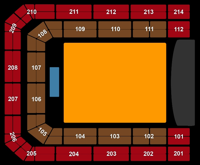Seating Plan Thirty Seconds to Mars