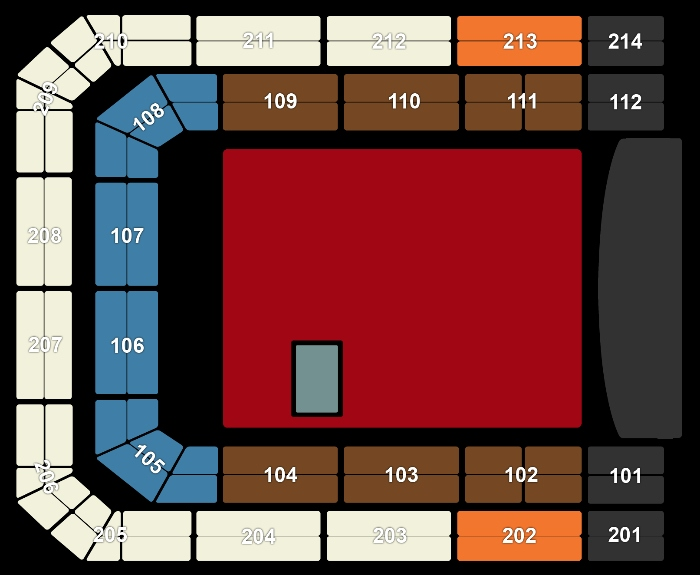 Seating Plan Lenny Kravitz