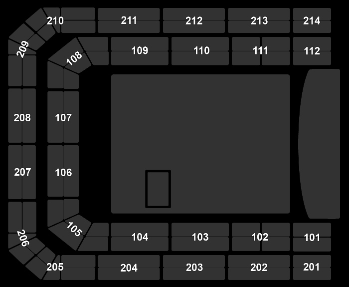 Seating Plan SpaceXperience LIVE (20:00)
