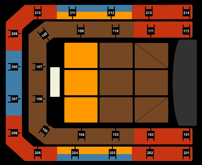 seating Plan Shania Twain