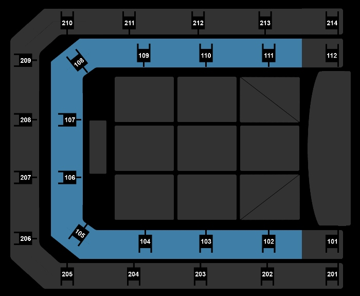 Seating Plan The Christmas Show (11:00)