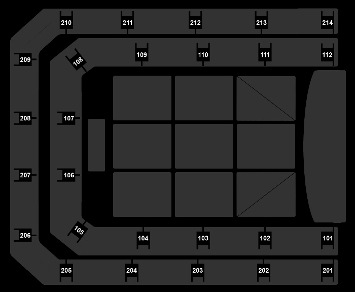 Seating Plan The Christmas Show (19:30)