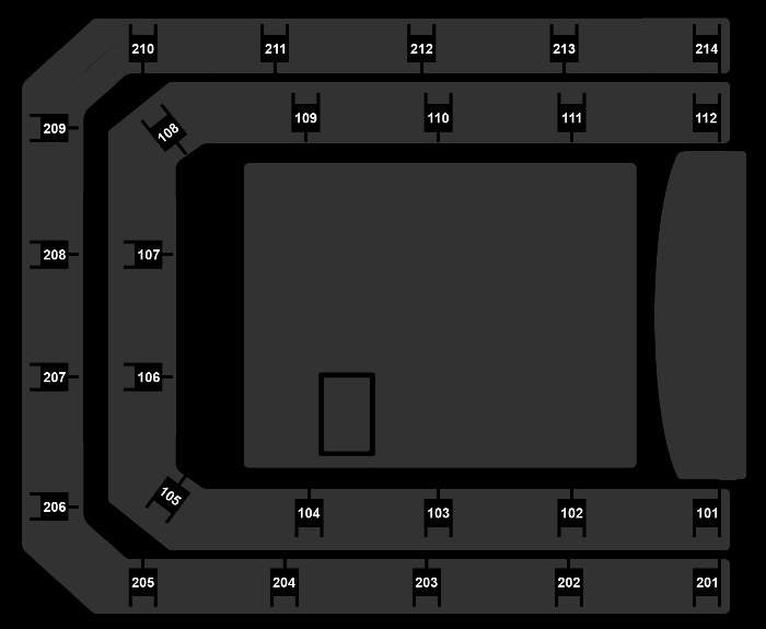 Seating Plan Queen + Adam Lambert