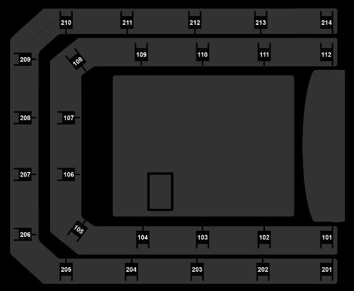 Seating Plan Queen + Adam Lambert
