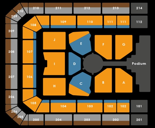Seating Plan The Christmas Show 2016 (20:30)