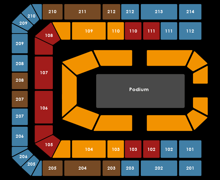 seating Plan Univé - A Touch Of Gold - 13:00