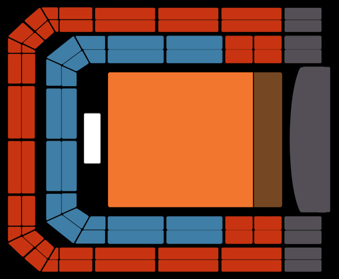 Seating Plan Macklemore & Ryan Lewis